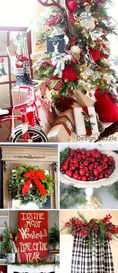 Christmas Home Tour: It's the Most Wonderful Time of The Year. Sharing inexpensive decorating tips for Christmas! Decorating and design by Toni Roberts - Design Dazzle