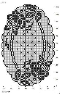 Салфетки с розами крючок схема 5