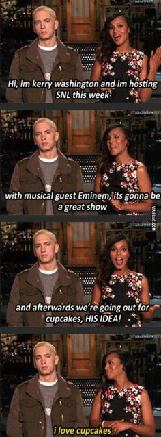 Eminem shares his excitement with us all!