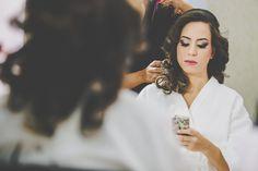 Making Of dos noivos / Maquiagem para noivas / Casamento rústico ao ar livre durante o dia / Vestido de noiva Aliexpress, China