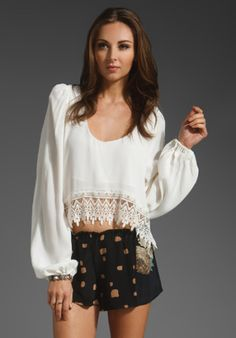 Stone Cold Fox Lee Blouse in White