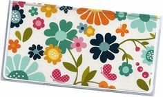 Checkbook Cover  Sunny Side Floral vinyl by rabbitholeonline, $6.25
