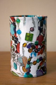 Upcycled Tin Can Container van PaperPlethora op Etsy, $5.00