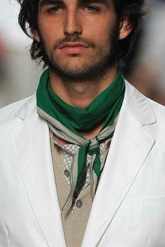 Men's Fashion Trend: Neckerchiefs | Mens Fashion Magazine - model Tanel Derard