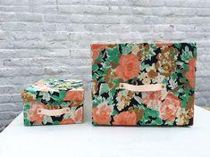Turn Cardboard Boxes into Pretty Storage Bins
