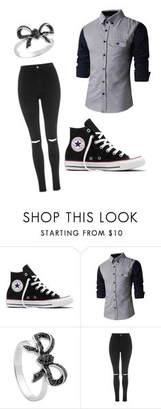"""""""Untitled #1"""" by itzrandiee ❤ liked on Polyvore featuring Converse, Georgini and Topshop"""