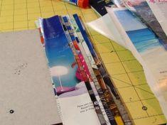 recycled magazine craft cut paper art