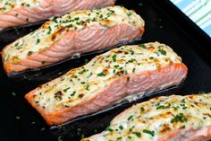 Parmesan Crusted Salmon -- so easy and can be prepped in advance...always a hit!