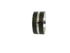 Ring im Ring Edelstahl/Carbon