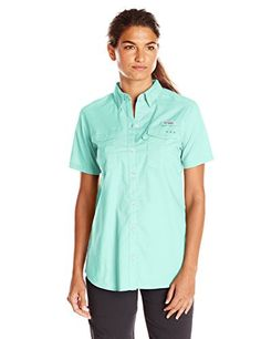 Columbia Women's Bonehead II Short Sleeve Shirt, X-Large, Blue Glass   Special Offer: $21.00      199 Reviews A cool, protective shirt constructed of cotton poplin that's garment washed for lived-in comfort, this performance women's fishing button up is designed to meet...