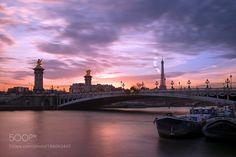 Sunest on Alexander III bridge by davidik #architecture #building #architexture #city #buildings #skyscraper #urban #design #minimal #cities #town #street #art #arts #architecturelovers #abstract #photooftheday #amazing #picoftheday