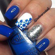 Притягательный бело-синий маникюр (40 фото) - Дизайн ногтей