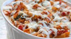 Three cheese chicken penne pasta bake that will make you forget you are eating healthy.