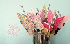 Butterfly Straws | Second Sister #paper #straws