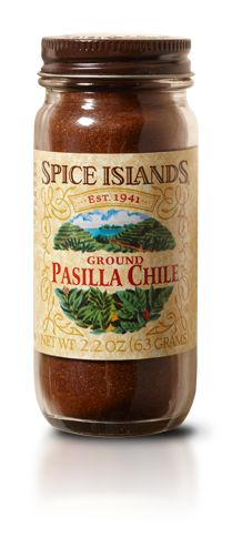 PASILLA CHILE POWDER  Deep and rich with a moderately hot, roasted flavor, pasilla chilies are great for enhancing the flavor of your favorite Mexican dishes. And are an essential ingredient in mole sauces.    On the Scoville scale, used to compare the hotness of chilies, pasilla chilies range from 1,500 to 6,000 heat units. While habanero peppers, for instance, can be as high as 250,000 heat units.