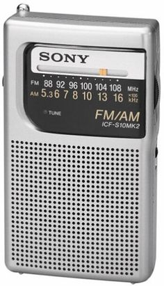 Sony ICF-S10MK2 Pocket AM/FM Radio, Silver | Your #1 Source for Televisions, Audio & Video and Home Theater