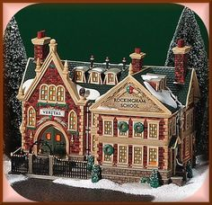 DEPARTMENT DEPT 56 LIGHTED DICKENS VILLAGE SERIES ROCKINGHAM SCHOOL 56.58479 NEW