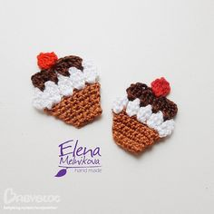crocheted appliques