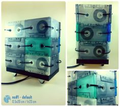 no#1 - default / kaset lamba / cassette lamp / aydınlatma / lighting