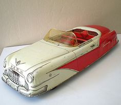 HUGE Vintage 1950's  MARX Tin Car Sportster Convertible comes from the Ruby Lane Shop of California Girls.
