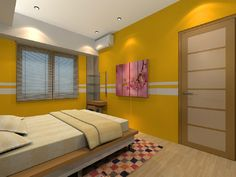 Beautiful Yellow Bedroom - Bright Atmosphere in Sweet Yellow