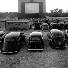 First drive-in movie theater~