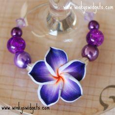 #purple #wine #glass #charms by Winky's Widgets - #wedding #favour #bonbonnierre - #unique #wedding #idea