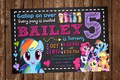 My Little Pony Invitation PP04 por Denleys en Etsy