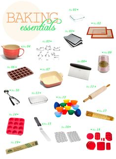 Baking Tools And Equipment cooking & baking tools poster | dramatic play: bakery | pinterest