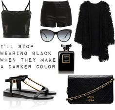 """Noir"" by streetluv ❤ liked on Polyvore"