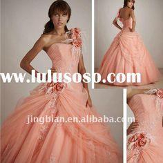 orange_pink_Sweetheart_Ball_gown_Allure_Quinceanera.jpg (680×680)