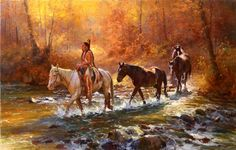 Jim C. Norton Chief Santaquin's War Horses Oil on linen canvas CAA Member since 1989 Native Indian, Native Art, American Indian Art, Native American Indians, American Spirit, Sports Art, Landscape Paintings, Art Paintings, Great Artists