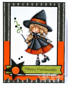 Welcome to our newest challenge: a Halloween Surprise - Creepy Cute! Make sure to create a NEW project using a Tiddly Inks image. Halloween Clipart, Halloween Drawings, Halloween Cards, Fall Halloween, Halloween Horror, Halloween Ideas, Halloween Costumes, Doodle People, Tiddly Inks