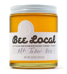 love the font on this honey packaging!
