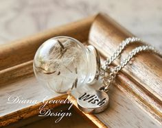 Dandelion Necklace real dandelion necklace by DianaJewelryDesign