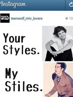 I like harry styles better not a big fan of teen wolf but a huge fan of one direction