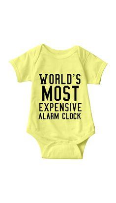 World's Most Expensive Alarm Clock Infant Onesie