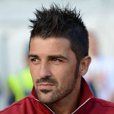 David Villa - Spiky Hair with Beard