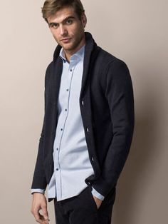 CARDIGAN WITH SEAM DETAILS - View all - Knitwear - MEN - United Kingdom