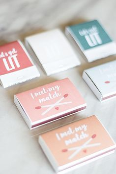 Let's get LIT with this adorable wedding favor matches DIY tutorial. Creative Wedding Favors, Edible Wedding Favors, Sticker Printer Paper, Diy Candles Scented, Diy Wedding Inspiration, Wedding Motifs, Wedding Aisle Decorations, Bride And Groom Gifts, Unique Weddings