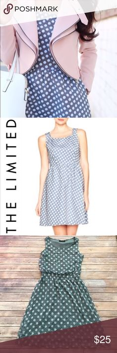 """The Limited polka dot dress Beautiful blue polka dot dress in EUC. Fully lined, measures 40"""" in length. No holes or stains. Bundle and save! The Limited Dresses Midi"""