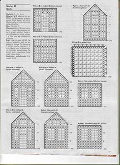 Plastic Canvas Box Patterns, Plastic Canvas Stitches, Plastic Canvas Crafts, Crochet Chart, Filet Crochet, Crochet Motif, Crochet Flowers, Crochet Fairy, Crochet Home