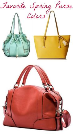Have you seen the hot spring colors yet? While shopping for a new handbag, I noticed the bright and vibrant trend happening for the spring. It makes