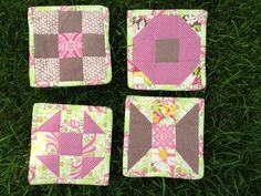 Quilted/applique coasters Swap