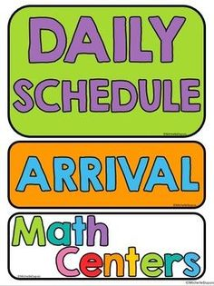 Colorful classroom decor set: Decorate your classroom with these bright daily schedule cards and classroom job labels. These are perfect for teachers who love colors but don't necessarily want to choose a classroom theme.