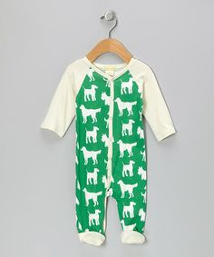 Take a look at this Green Dog Organic Raglan Footie - Infant by violet + moss on #zulily today!