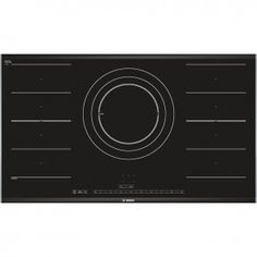 Bosch Logixx Black Glass Hob with Stainless Steel PIZ975N17E - Banyo.co.uk