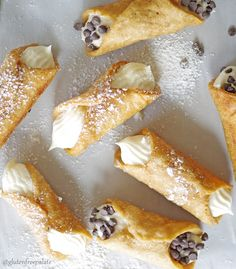Crunchy on the outside, smooth and creamy in the middle, and the perfect treat to end the day. These Gluten-Free Vegan Cannoli's are free from the top eight allergens and simple to make. (Gluten Free Recipes Celiac)