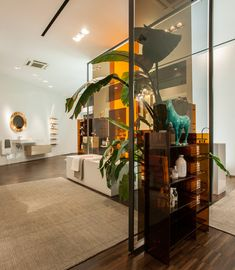 ludovica + roberto palomba design first kartell by LAUFEN store in milan