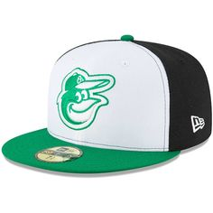 Men s Baltimore Orioles New Era White Green Earth Day 59FIFTY Fitted Hat 6399d6f71d7